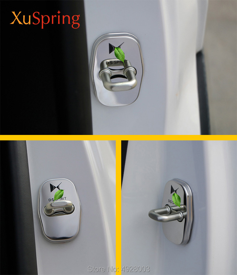 Image 5 - Car Door Lock Covers Protection Stainless Steel Styling Accessories For DS Spirit DS3 DS4 DS4S DS5 DS5LS DS6 DS7-in Interior Mouldings from Automobiles & Motorcycles