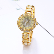 Women Rhinestone Watches Lady Rotation Dress Watch Brand Real Stainless Steel  Band Big Dial Bracelet Wristwatch Crystal