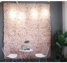 40x60cm Artificial Flower Panels Wedding Decoration Backdrop Champagne Silk Rose Fake Flowers Hydrangea Wall