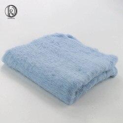 50x50 cm 100% Fofo Cobertor de Lã de Feltro de Lã Real Cesta Cestas de Enchimento Filler Newborn Foto Adereços Cobertor Posando cobertores