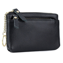 Carteira 100% Genuine Leather Women Wallet with Key Holders Famous Brand Design Zipper Coin Purses Factory Price Direct Selling