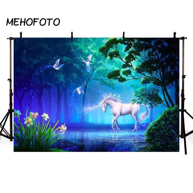 mehofoto einhorn marchen thema fotografie hintergrund wald geburtstag baby party foto hintergrund fur bilder zimmer schmucken