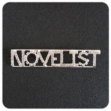 """Novelist"" Occupation Crystal Letters Womens Brooch"