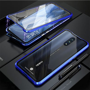 Image 3 - Luxury Magnetic Metal Bumper Case For OPPO Reno F11 V15 Pro R17 Cover Double Sided Glass Full Body Case For OPPO Reno 10X Zoom