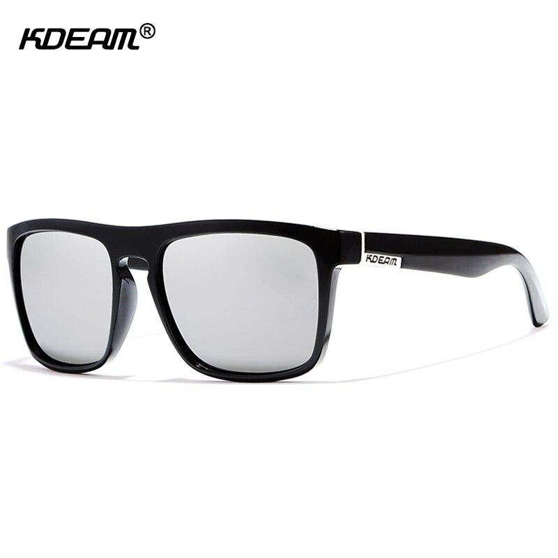 Con estuche negro Flat Top gafas de sol polarizadas cuadrado calidad ...
