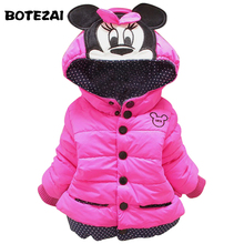 New 2017 baby kids coat for children children outerwear coats girls winter Minnie coat kids jackets