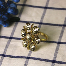 5PCS napkin buckle alloy ring diamond cloth crystal meal hotel supplies table decoration