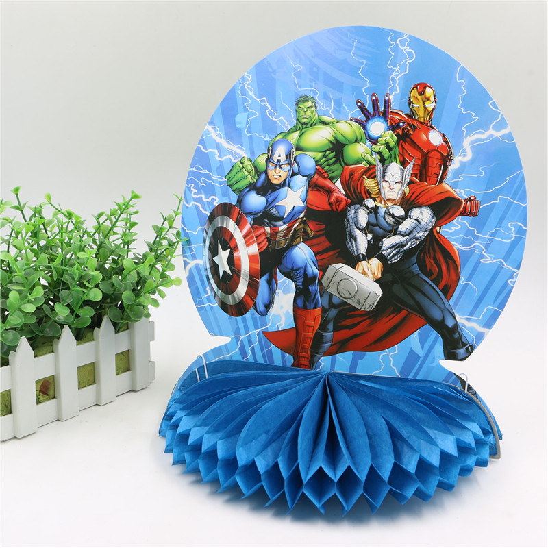 25cm Happy Birthday Honeycomb Centerpiece Party Table Decoration Decorations Supplies Avenger Boy Theme On Aliexpress