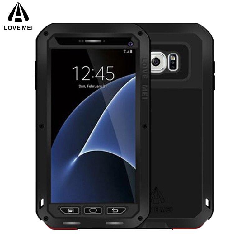 AMORE MEI Cassa di Alluminio Del Metallo Per Samsung Galaxy Copertura S7 potente Armatura Antiurto Vita Custodia Impermeabile Per La Galassia S7 G9300 G930
