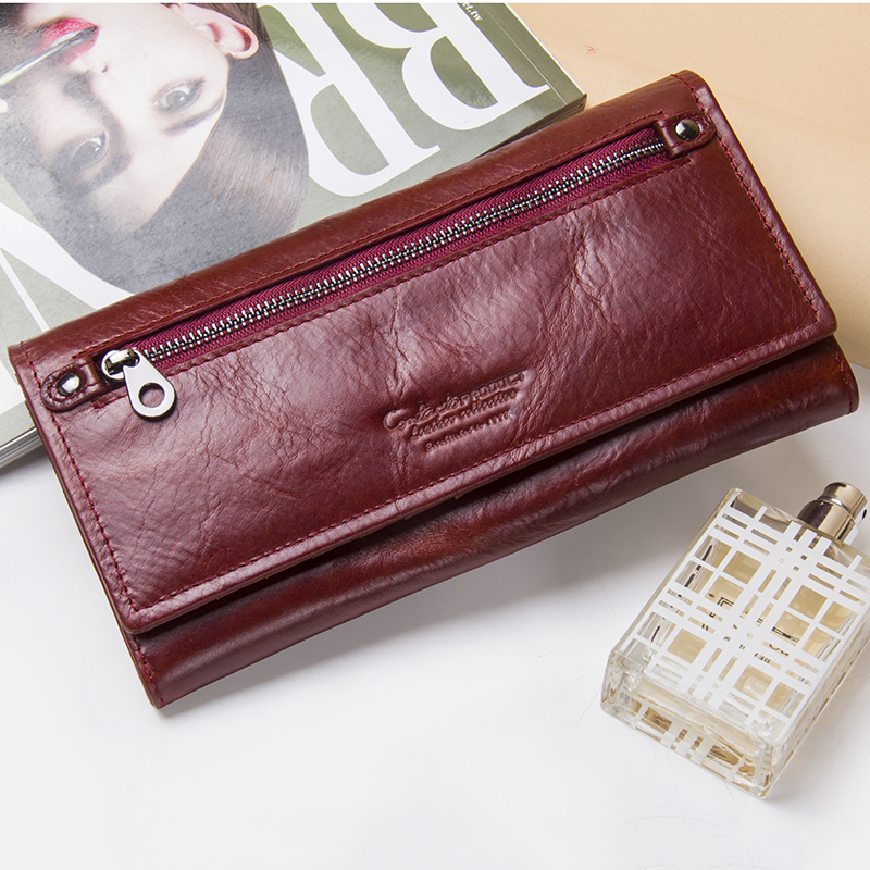 2020 Fashion Coin Purse Wallet Female Famous Brand Card Holders Cellphone Pocket Genuine leather Women's Wallets High Quality