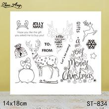 купить ZhuoAng Beautiful Elk Transparent Silicone Stamp / Stamp DIY Scrapbook / Album Decoration Transparent Seal / Seamless Seal по цене 116.16 рублей