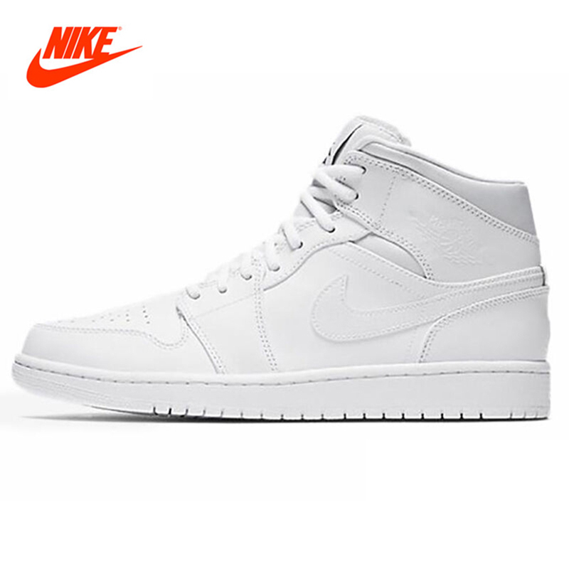 Original New Arrival NIKE Men's High Top Lightest Leather Basketball Shoes Sneakers original new arrival nike men s high top lightest leather basketball shoes sneakers