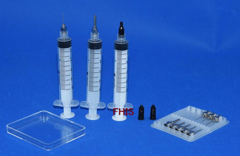 New 10CC Syringe  Solder Paste Adhesive Glue Liquid Dispenser new liquid dispenser solder paste adhesive glue syringe dispensing needle tip