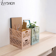IVYSHION Hollow Folding Desktop Organizer Makeup Sundries Storage Container Bedroom Bathroom Plastic Baskets Home Office Storage & Buy bedroom storage containers and get free shipping on AliExpress.com
