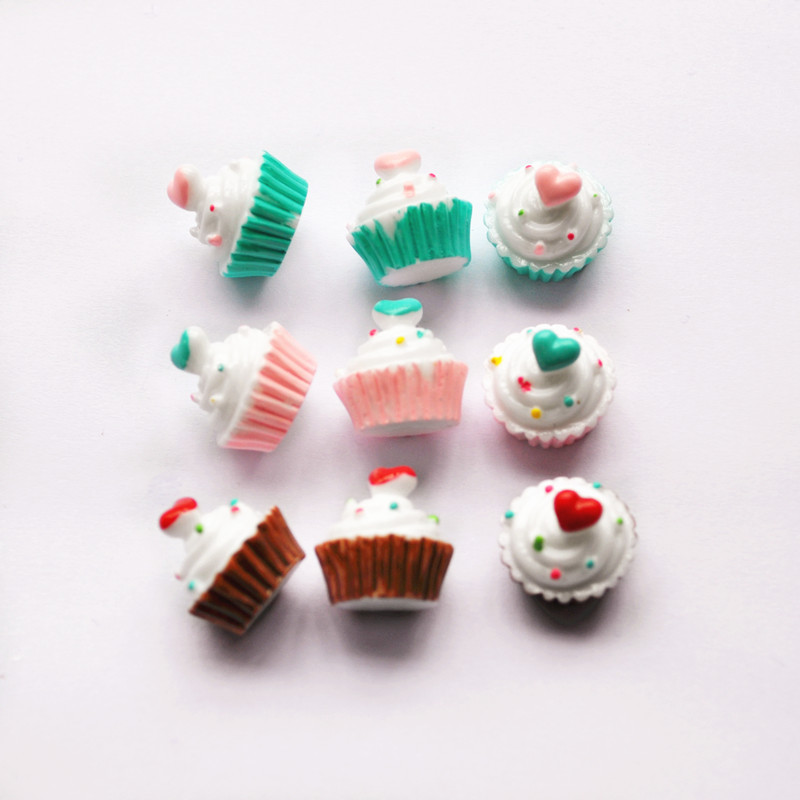 Miniature Phone-Case Decorative-Craft Resin Cabochons Fake-Food Artificial Cute Scrapbooking