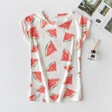 Casual short-sleeved shirt shabby printed women's T-shirt