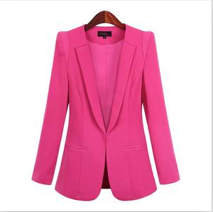 Image 3 - 2020 New Plus Size Womens Business Suits Spring Autumn All match women Blazers Jackets Short Slim long sleeve Blazer Women Suit