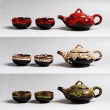 Кофе чайный набор включает в себя чайник и две чашки в пять яркие цвета творческий подарок отличное качество Кунг-Фу чайные сервизы