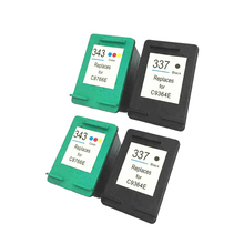 2x For HP 337 Black & 2x For HP343 Colour Ink Cartridges For Photosmart C4180 Printers hu716 2x