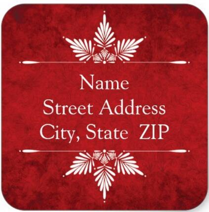 15inch Merry Christmas Calligraphy Return Address Labels Square Sticker In Stationery From Office School Supplies On Aliexpress