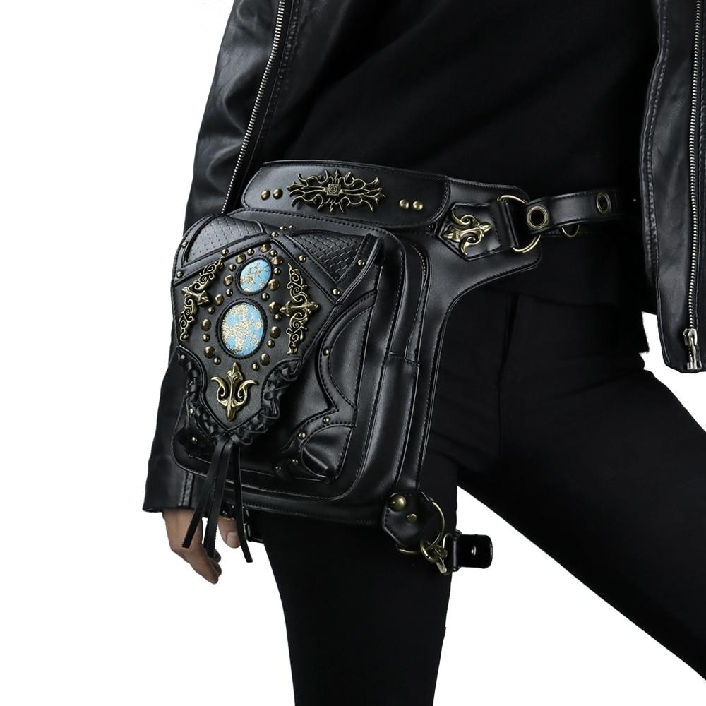 Steampunk Waist Leg Bags Women Men Unisex Victorian Style Holster Bag Retro Rock Shoulder Packs Gothic Hip Bags Fashion Heuptas in Waist Packs from Luggage Bags