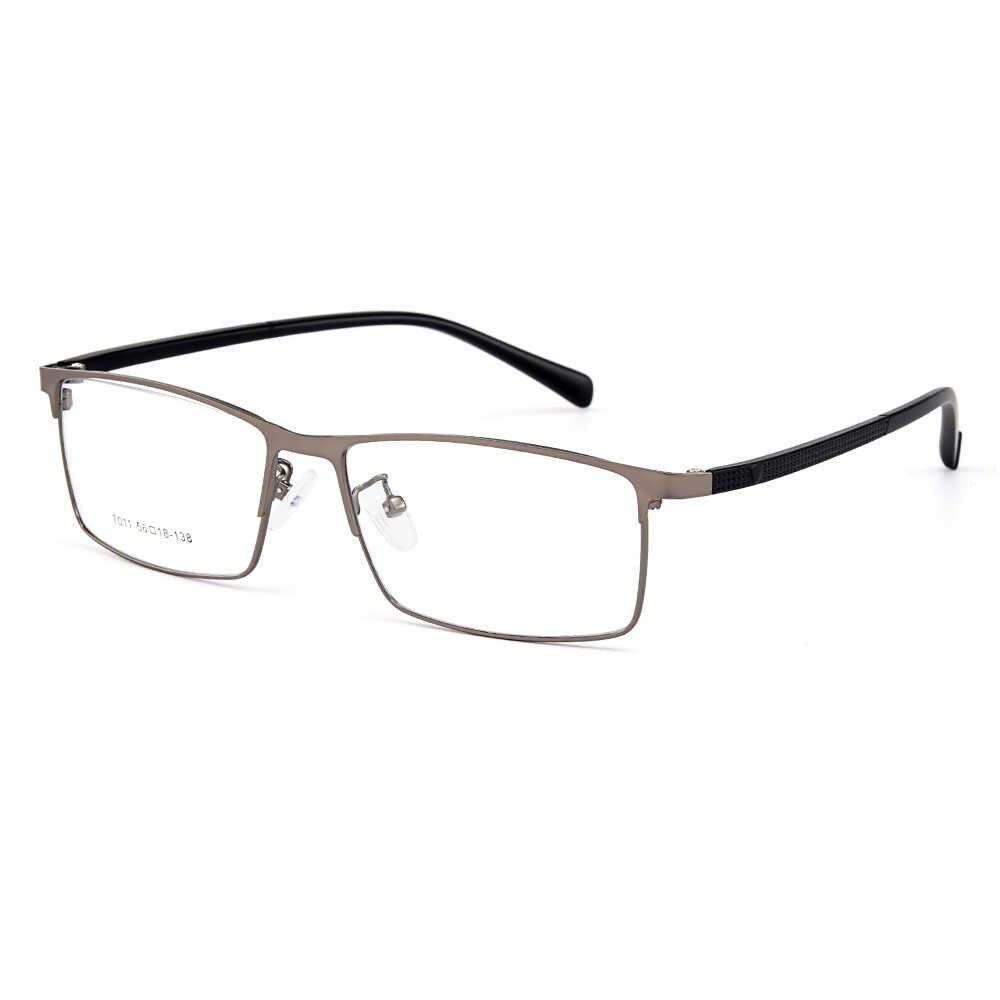 Gmei optical men liga de titânio óculos quadros para homens eyewear templos flexíveis pernas ip galvanoplastia liga óculos y7011