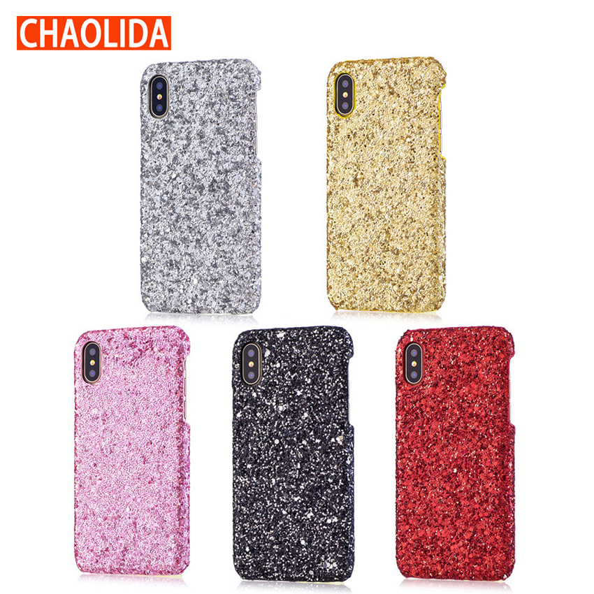 Cheap Bling Glitter Smartphone Case for IPhone 7PLUS 8PLUS 6 6s 7 8 plus Case Mobile Phone for IPhone X Drop Shipping Free image
