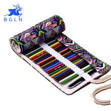 National Broderie Crayons Poche Sac 36/48/72 Trous Rouleau Brosse Cas cartucheras par lapices Cadeau Sac Art fournitures(China (Mainland))