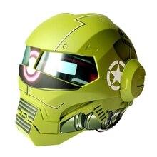 (1 шт.) Высокое Качество 100% Оригинальный Зеленый Заку Masei 610 Ironman Шлемы Мотоцикл Череп Открытым Лицом Шлем Casco Capacete