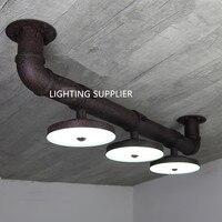 Контракт технологии коридор индустриальный стиль светильники творческий LED три диска водопровод потолочные светильники