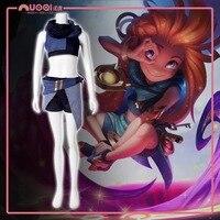 STOCK 2018 Hot Game LOL Newest Female Hero Zoe Aspect Of Twilight Cosplay Costume Full