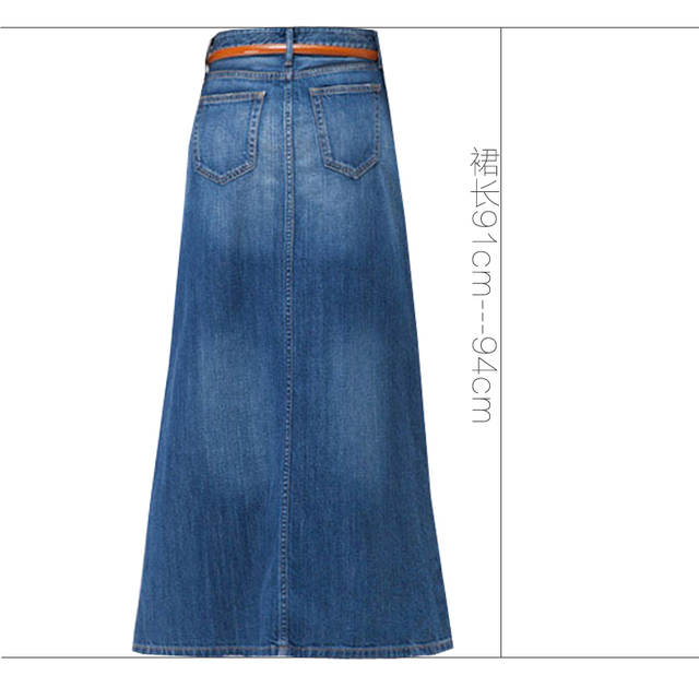 067c8dd3217 Online Shop Free Shipping 2018 New Fashion Long Casual Denim Skirt Spring A-line  Plus Size S-2XL Long Maxi Skirts For Women Jeans Skirts