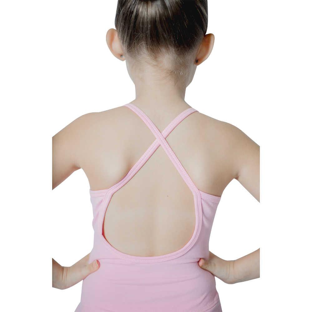 FEESHOW Vestido de Ballet con Espalda Cruzada