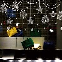 Removable Christmas Hanging Drop Window Sticker Waterproof Living Room Market Shop Decoration Creative DIY Home Decor