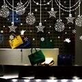 [SHIJUEHEZI] estrellas copos de nieve Ángel pegatinas de vidrio Navidad DIY de la pared para sala tienda ventana decoración de Año Nuevo