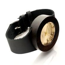 Dark Wood Gold Watches With Diamonds