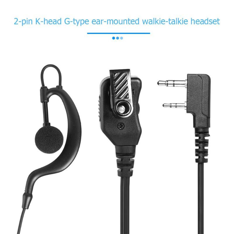 G-Shape PTT Earpiece Adjustable Volume Earphone For Kenwood Retevis BAOFENG Radios Earphones