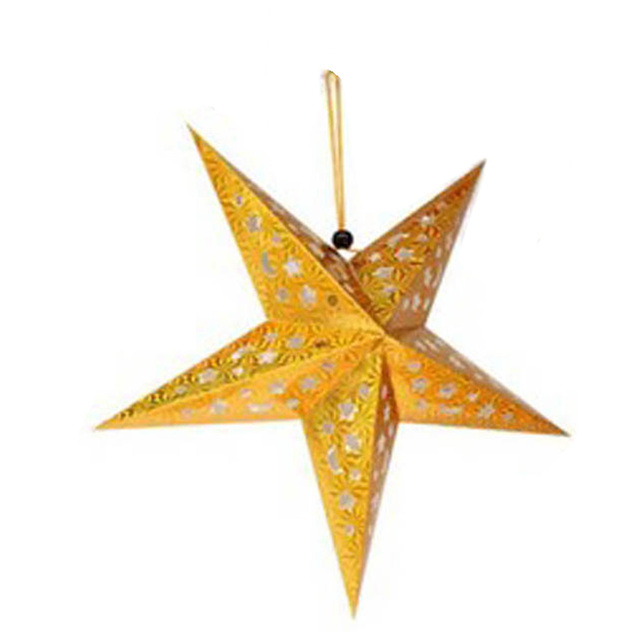 30cm Laser Paper Five Pointed Star Christmas Decorations Xmas ...