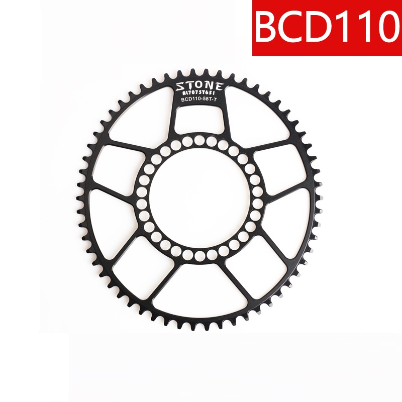 110BCD Oval Chainring Narrow Wide 1x System Crank 5 bolts