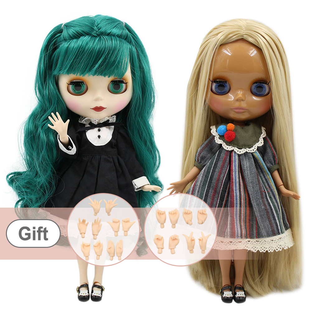 ICY blyth factory doll normal body and joint body matte face 1/6 BJD dolls Can Changed Makeup and Dress DIY on sale-in Dolls from Toys & Hobbies