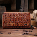 2017 new men's crocodile leather wallet leather wallet to rub the color of men's hands to get a bag of business men's business