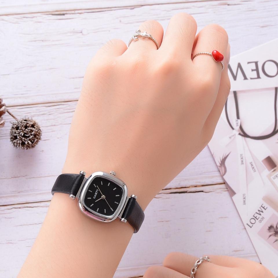 ecaf0d43b7ad Comprar Reloj de mujer correa de cuero cuadrado deporte reloj moda Casual  señoras relojes de pulsera para mujeres mujer reloj Online Baratos.