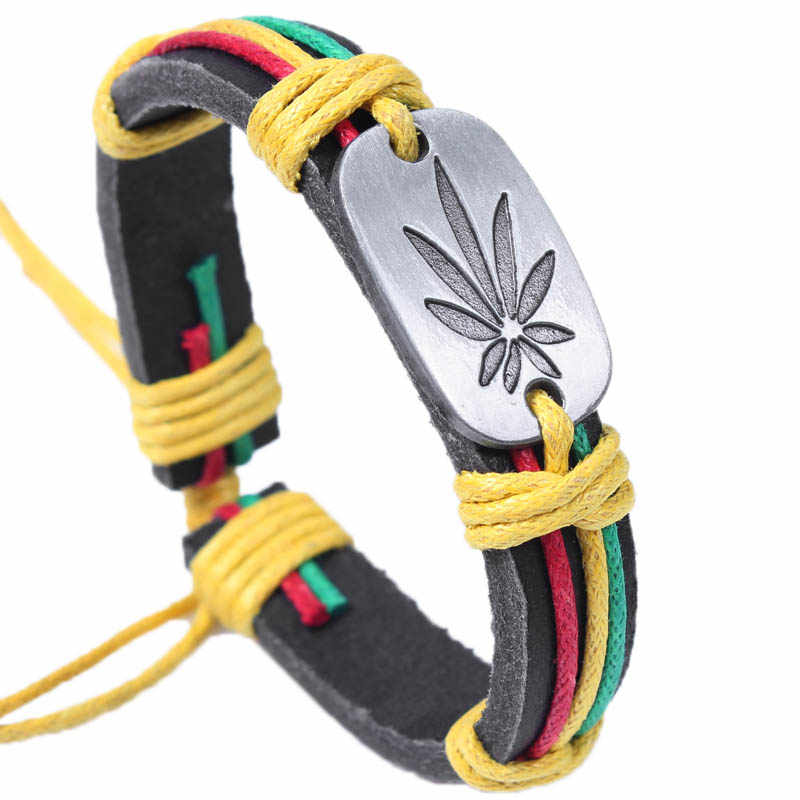 Free shipping multi-color Rasta Wrap  bracelet rasta  wristband Bangle