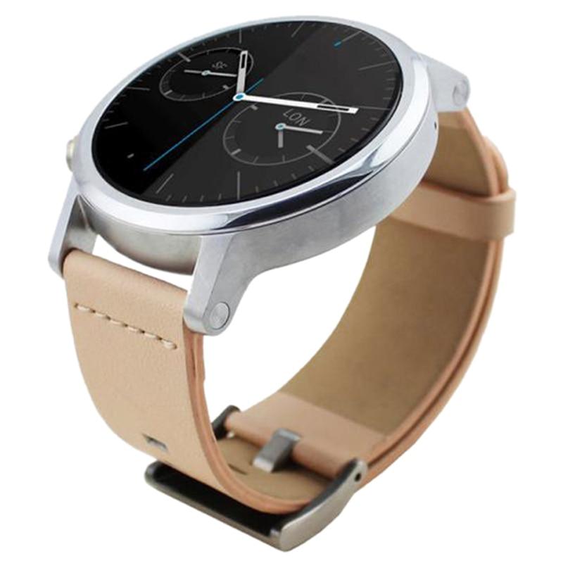 YCYS-Leather Watch Band Wristwatch Strap For Motorola Moto 360 2nd 42mm*20mm/Khaki kimisohand classic fashion genuine leather watch band strap for motorola moto 360 2nd 42mm