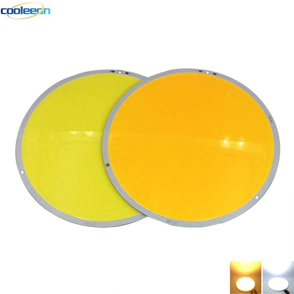 108mm 160mm Rounded 12V COB LED Light Board 50W 200W Warm Cool White Circular Bulb Auto Parts Vehicle Car Lighting DIY Work Lamp