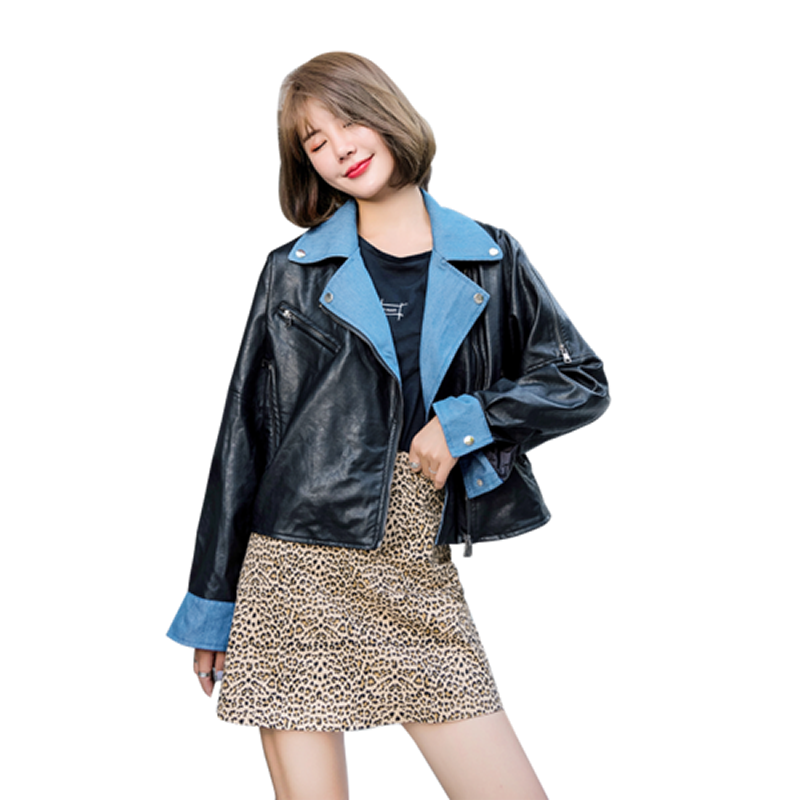 Gothic Women Faux Pu   Leather   Jacket Casual Long Sleeve Streetwears Overcoat 2018 Autumn Winter Manteau Outwears Plus Size 4xl