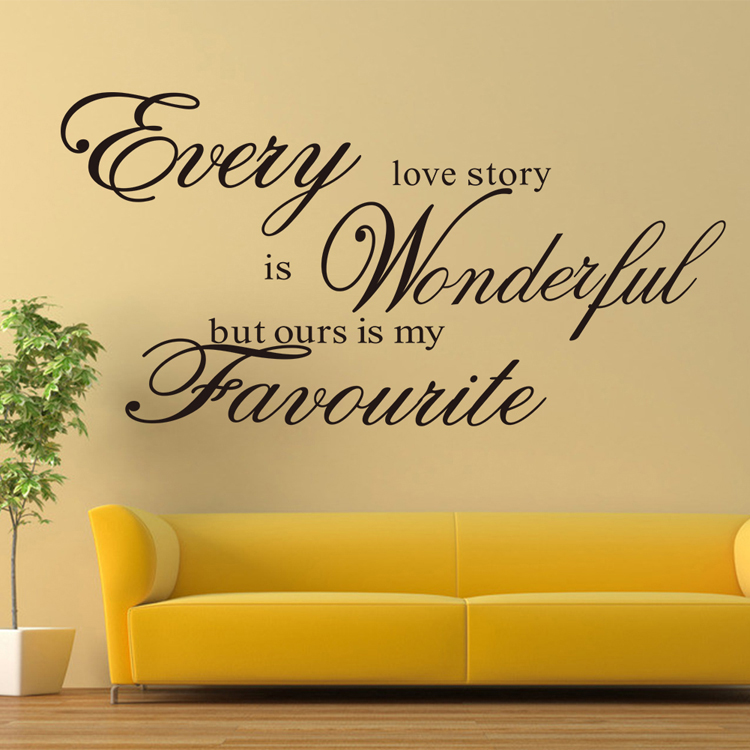 wall stickers home decor English quote \