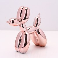 Jeff Koons Shiny Balloons Dog Statue Simulation Dogs Animal Art Sculpture Resin Craftwork Home Decoration Accessories L2846