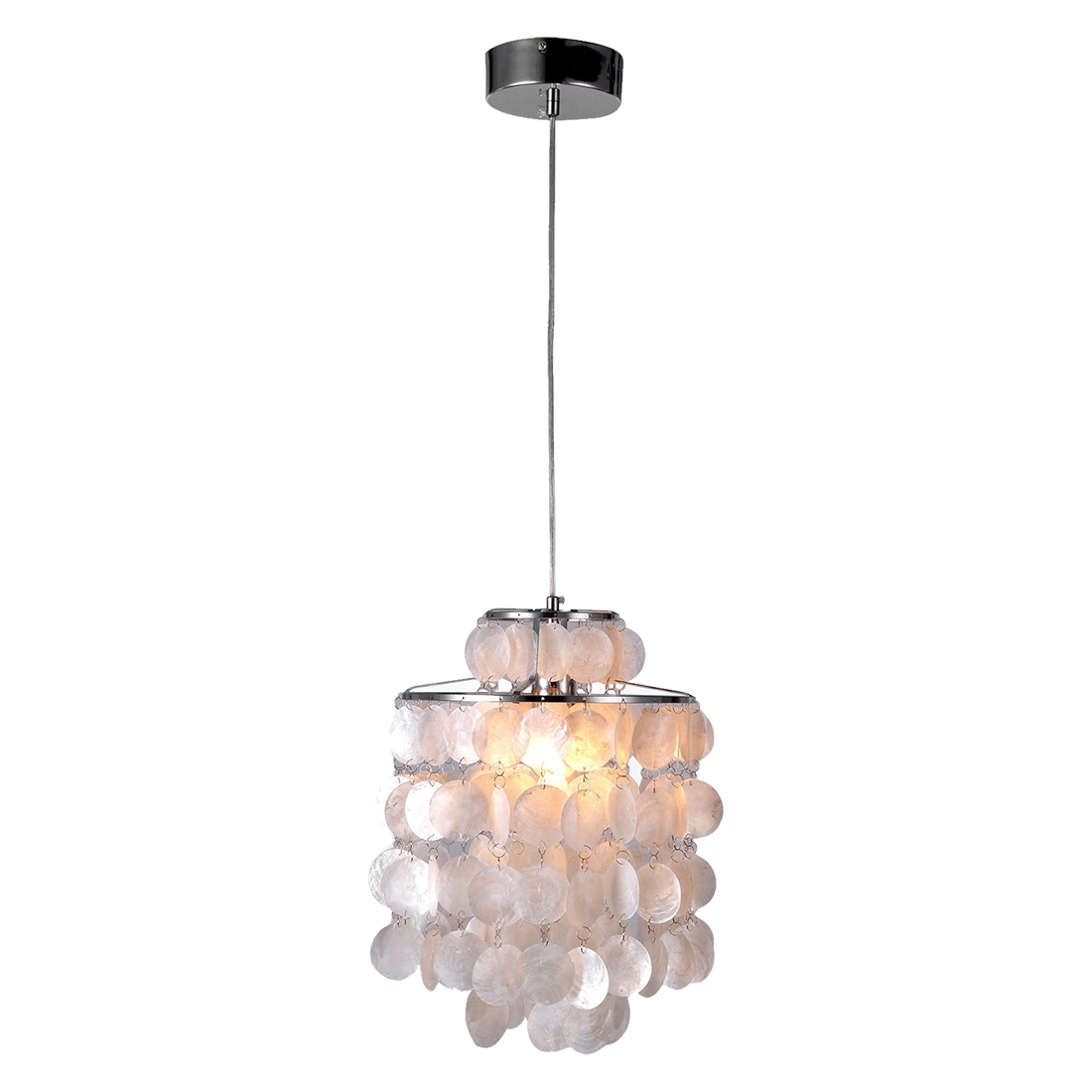 Online buy wholesale capiz shell chandelier from china for Shell ceiling light fixtures