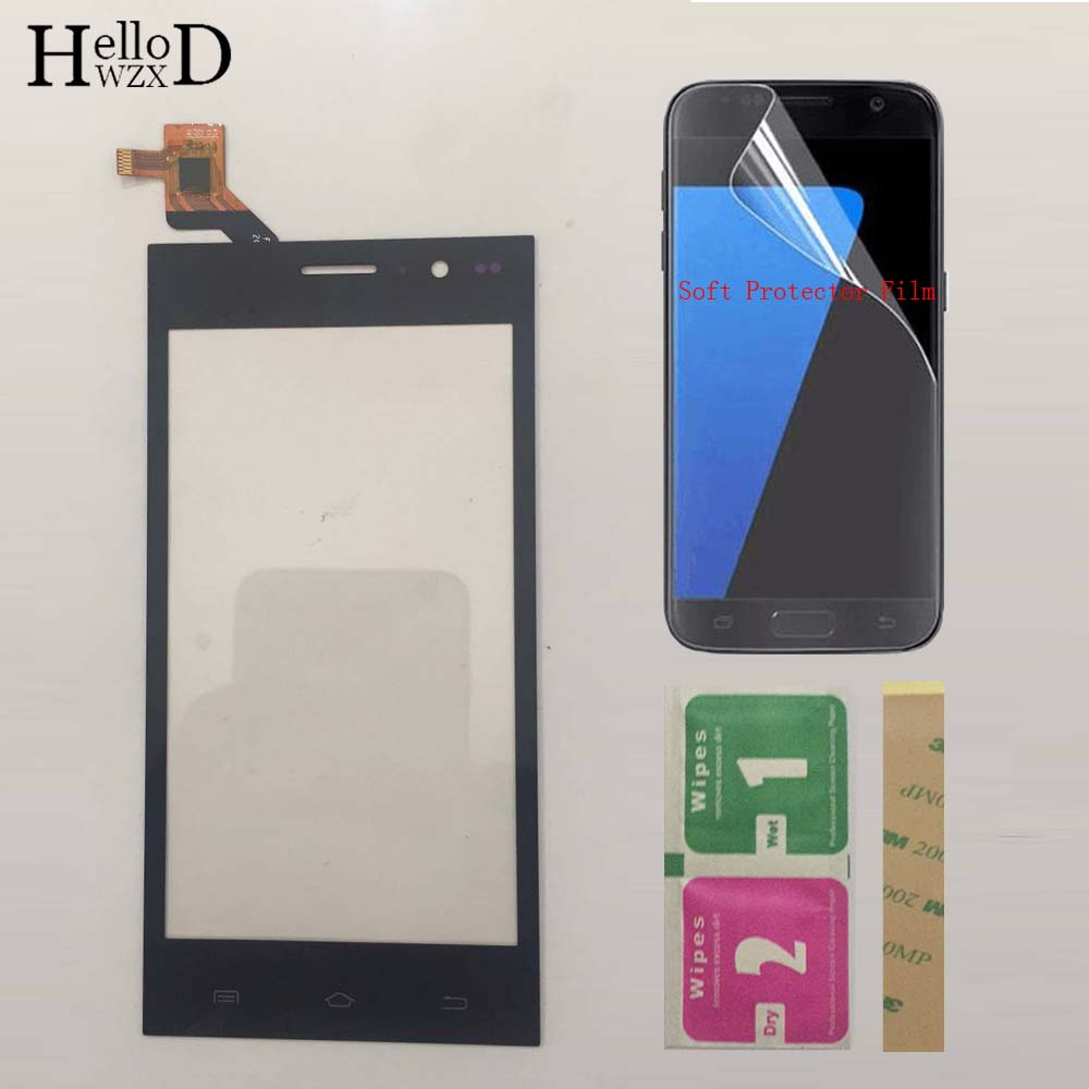 Mobile Touchscreen Touch Screen Sensor For Highscreen Zera S Power Touch Screen Front Glass Digitizer Panel + Protector FilmMobile Touchscreen Touch Screen Sensor For Highscreen Zera S Power Touch Screen Front Glass Digitizer Panel + Protector Film